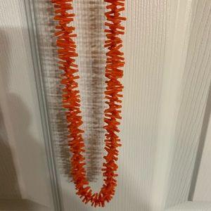 Vintage Long Faux Coral Necklace